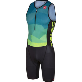 Castelli Core Tri Suit Herrer, blue/yellow fluo